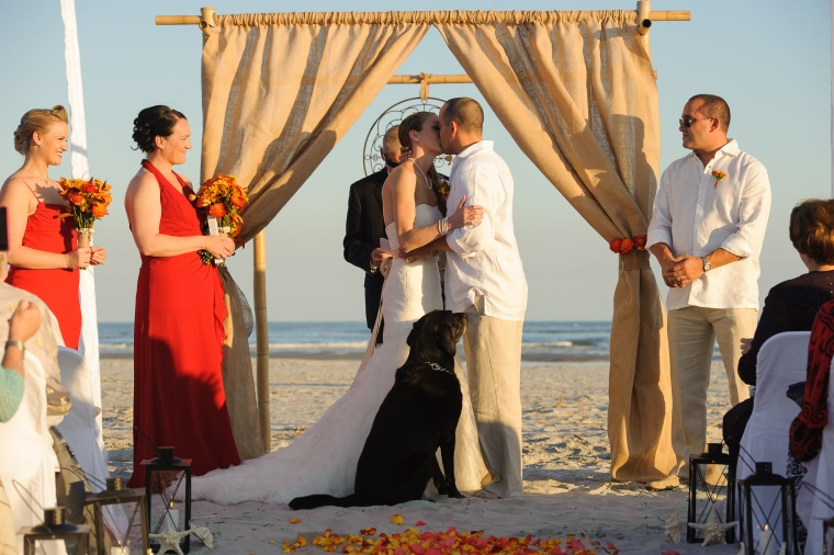 Beautiful Savannah Beach Wedding Ceremony
